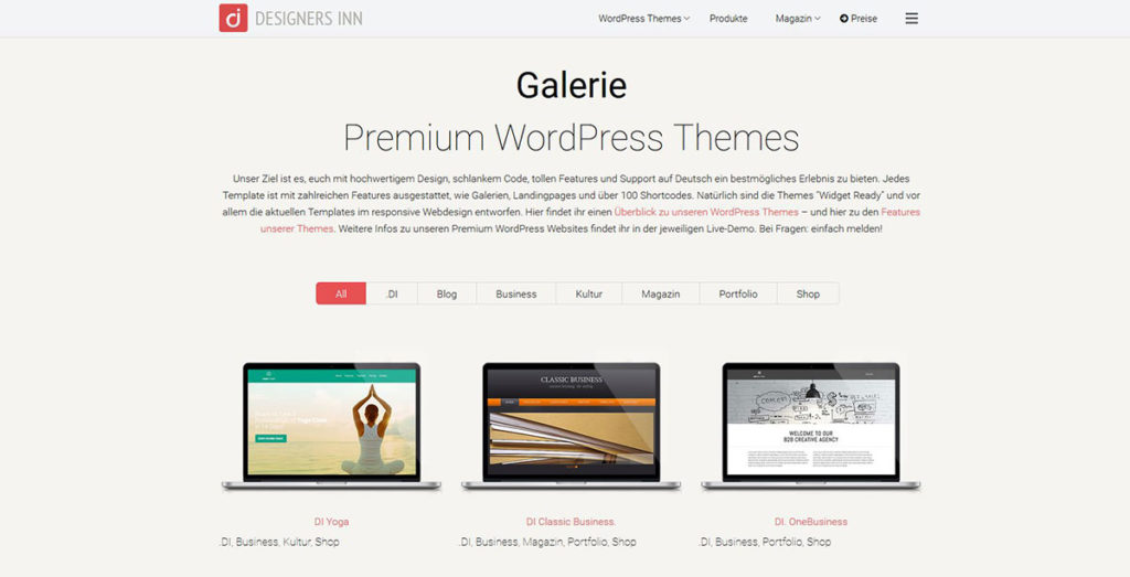 Designers Inn - WP-Themes