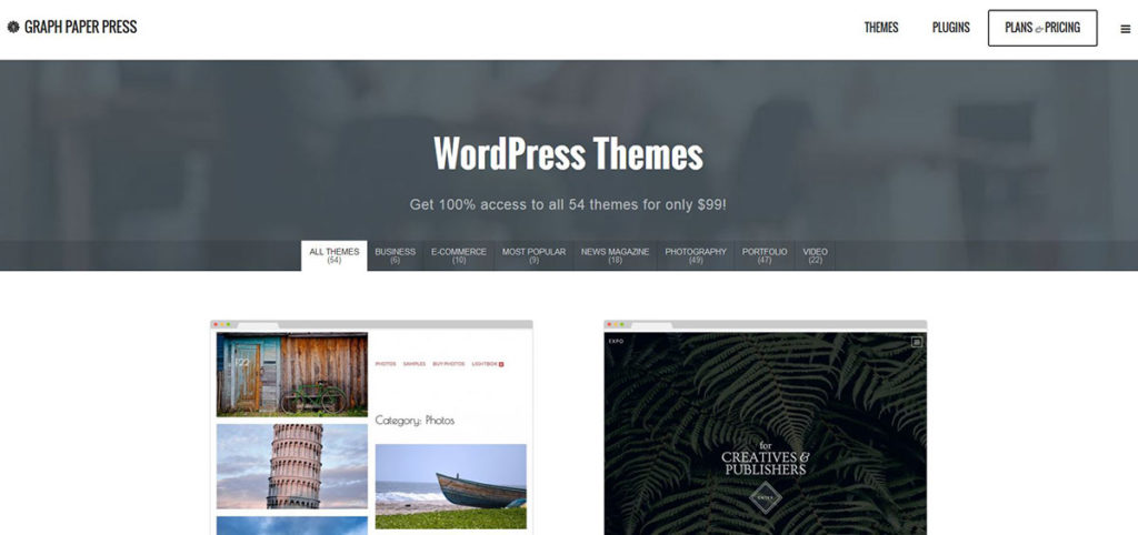 Graph Paper Press - WP-Themes