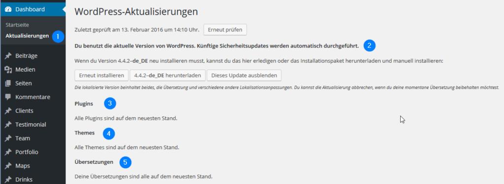 WordPress-Aktualisierunen-Updates-pruefen