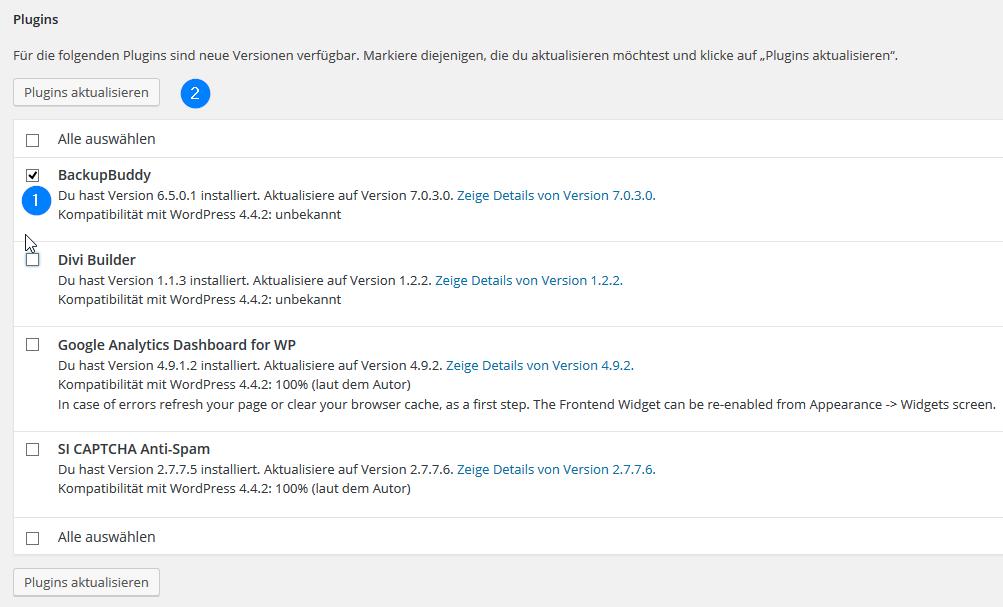 WordPress-Anzeige-verfuegbare-Plugin-Updates