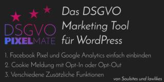 DSGVO Pixelmate Plugin für WordPress von Soulsites