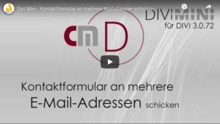 Divi Tutorial: Kontaktformular – E-Mail an mehrere E-Mailadressen schicken