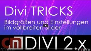 Divi Tutorial – Bildgrößen und Einstellungen im Fullwidth Slider